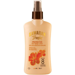 Hawaiian Protective Sun Lotion Spray Spf8 200 Ml Unisex