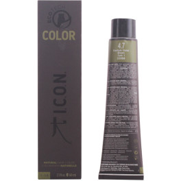 I.c.o.n. Ecotech Color Natural Color 4.7 Medium Violet Brown 60 Ml Unisex