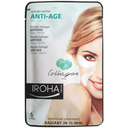 Iroha Eyes & Lips Hydrogel Patches Collagen Anti-age 6 Pcs Mujer