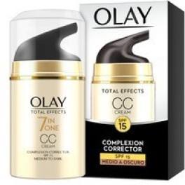 Olay Total Effects Cc Cream Spf15 Medio A Oscuro 50 Ml Mujer