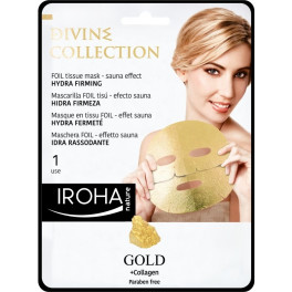 Iroha Gold Tissue Hydra-firming Face Mask 1 Use Mujer