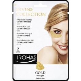 Iroha Gold Tissue Eyes Patches Extra Firmness 2 Pcs Mujer