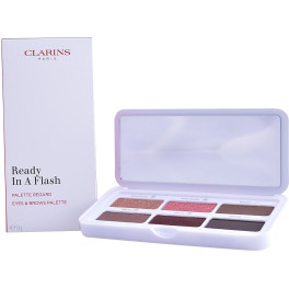 Clarins Ready In A Flash Eyes & Brow Palette 76 Gr Mujer
