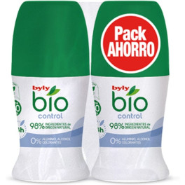 Byly Bio Natural 0% Control Deodorant Roll-on Lote 2 Piezas Unisex