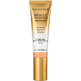 Max Factor Miracle Touch Second Skin Found.spf20 4-light Medium 30 Ml Mujer