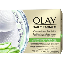 Olay Cleanse Daily Facials Micellar Toallitas Secas Ps 30 Uds Mujer