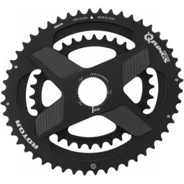 Rotor Q Rings Dm Oval Chainring 53 39 T Negro