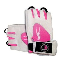 BioTechUSA Guantes Pink Fit Gloves Blanco-Rosa