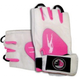 - BioTechUSA Guantes Pink Fit Gloves Blanco-Rosa XL