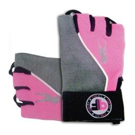 BioTechUSA Guantes Pink Fit Gloves Gris-Rosa
