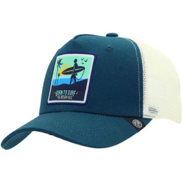 The Indian Face Born To Surf Blue And White Gorra
