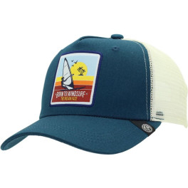 The Indian Face Born To Windsurf Blue And White Gorra