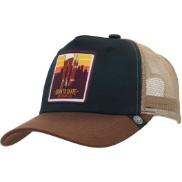 The Indian Face Born To Skate Blue And Brown Gorra