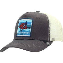 The Indian Face Born To Wakeboard Grey And White Gorra