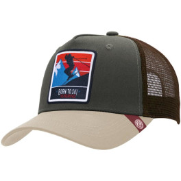 The Indian Face Born To Ski Green / Brown Gorra