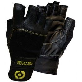 Scitec Guantes Leather Yelow Style